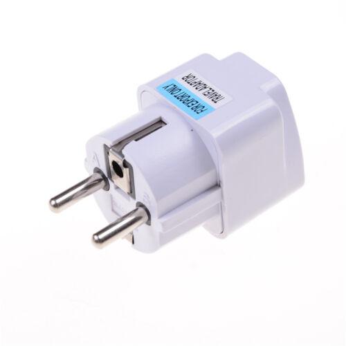 UK//US//AU to EU European AC Power Plug Travel Wall Adapter Converter EJB