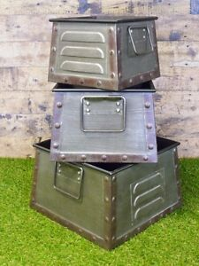 Image Is Loading S 3 Furniture Metal Storage Bins Bo
