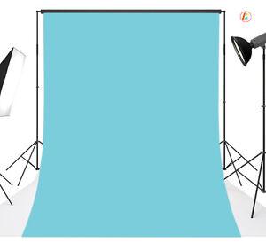 10x20FT Light Blue Vinyl Photography Backdrop Background Studio Photo Props 06