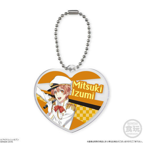 1 Idolish 7 Acrylic Heart Charm Phone Strap Japan Boy Bandai Candy Shokugan Toy