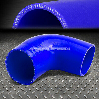 """3/"""" 3-PLY 90-DEGREE ELBOW TURBO//INTAKE PIPING SILICONE COUPLER HOSE//PIPE BLUE"""