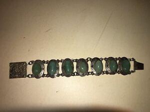 Bracelet Rétro Aventurines En Cabochons Dlh Déposé Réf M916 Kr0rajfi-07233540-632771590