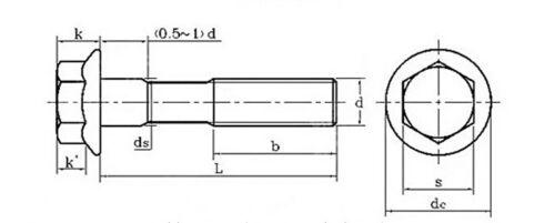 Select size M6 M8 M10 M12 M14 M16 Hex Head Flange Bolts Cap Screws