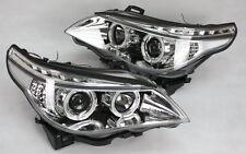 SCHEINWERFER SATZ F. BMW E60 E61 LED TAGFAHRLICHT TFL LOOK CHROM LED BLINKER TÜV