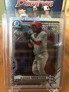 2021 Bowman Chrome Mojo SP Elehuris Montero #BCP-116 St Louis Cardinals