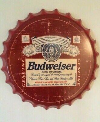 Budweiser King of Beers metal Wall Sign ga