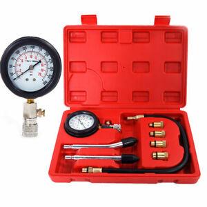 Car Motorcycle Petrol Gas Engine Cylinder Compression Tester Diagnostic Gauge