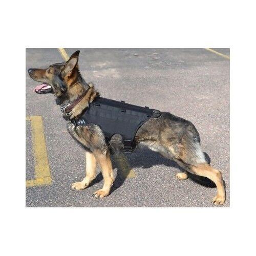 Dog Harness Vest Training Secure Law Enforcement Grade Pet Pad Adjust Black K 9