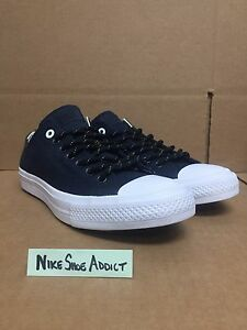 Converse Chuck Taylor All Star II 2 CTAS OX Low Dark Navy Blue White ... dc128cd18