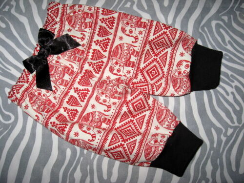 NEW Baby Girls Red Black White brown Elephants Leggings Trousers Gift Ethnic