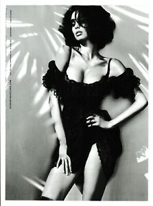 GUESS Sexy Glistening Woman in Black Lace Dress 2011 Magazine Ad/Photo Page