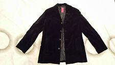 Men's Medium Black Luxury Velvet Winter Coat by St-Martins Scandinavian Design