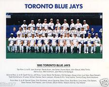 1993 TORONTO BLUE JAYS WORLD SERIES CHAMPIONS 8X10 TEAM PHOTO