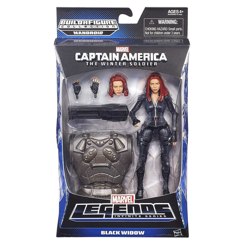 Marvel Capitán América Leyendas Figura De Viuda Negra 6 pulgadas