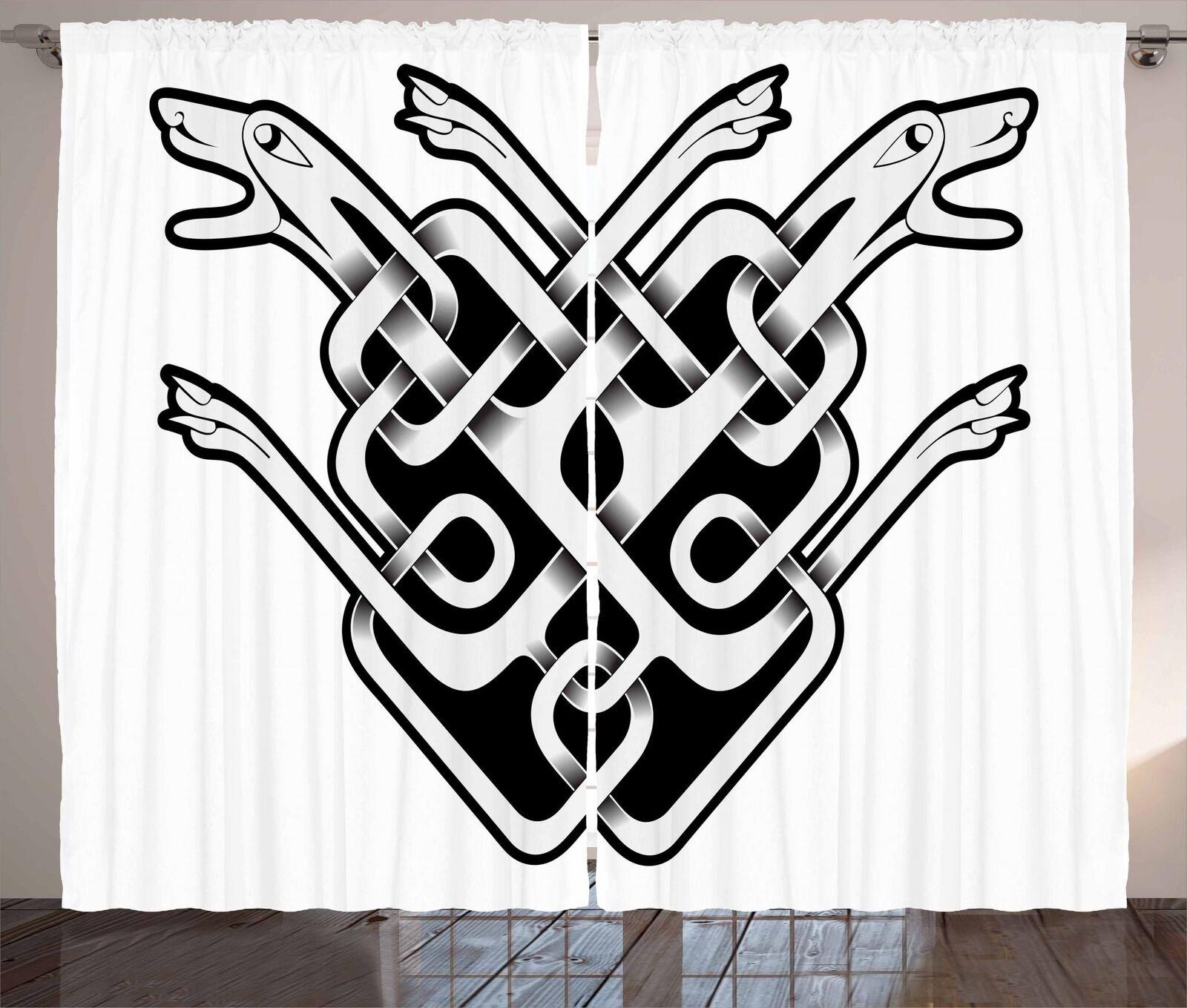 Celtic Curtains 2 Panel Set for Decor 5 Größes Available Window Drapes