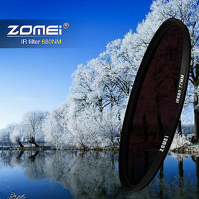 Zomei 49/52/55/58/62/67/72/77/82mm 680nm IR Infrared filter for Canon Nikon