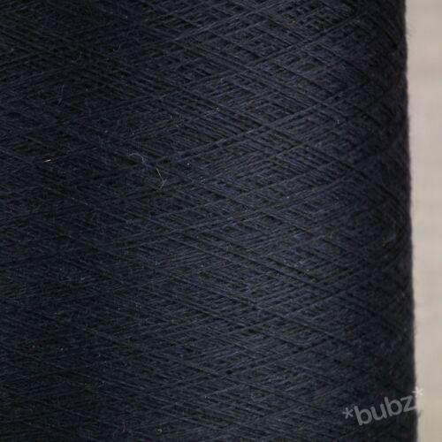 STUNNING NAVY BLUE SUPER FINE 2//60 SILK MERINO COBWEB YARN 250g CONE 0 PLY LACE