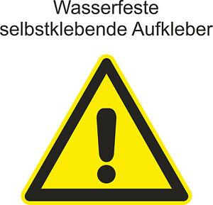 Hinweiss-Aufkleber-Warnung-Warnschild-Warnzeichen-Gefahr-Sticker-ab-5cm-Uv-fest