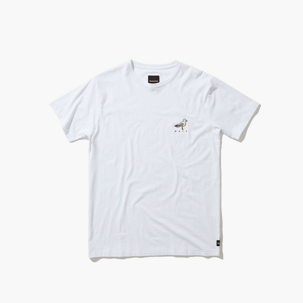 $39 Barney Cools Hommes Seagull Mate Tee (blanc)