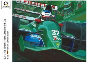 Coffee-mug-1991-Jordan-Ford-191-32-Michael-Schumacher-GER-by-Toon-Nagtegaal