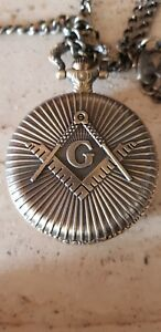 Orologio Da Tasca Massonico Illuminati Moriah Doppia Catena Da Taschino