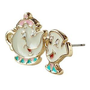 1pair Lovely Cartoon Beauty And The Beast Earrings Cute Teapot Ear Studs Hot Ebay