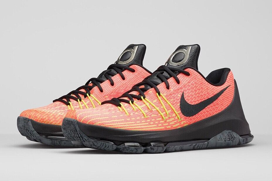 7f3ca6c1aa9 ... NIKE KD8 MENS BASKETBALL AND SHOES SIZES 10.5 AND BASKETBALL 11 ORANGE  BLACK 749375 807 47c5d4 ...