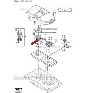 Array - details about stiga cutter deck toothed belt fits ready 92m villa 92m villa ii 92m mowers  rh   ebay com