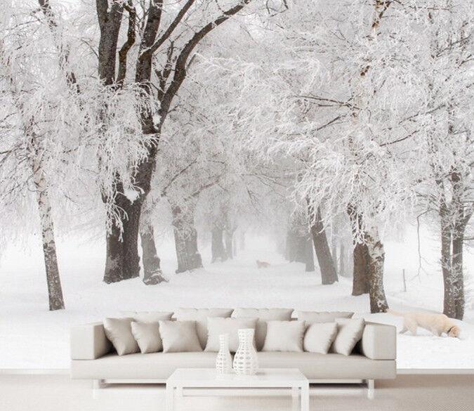 3D Misty  Schnee Baum 82 Tapete Wandgemälde Tapete Tapeten Bild Familie DE   Deutschland Frankfurt    Gutes Design    Meistverkaufte weltweit
