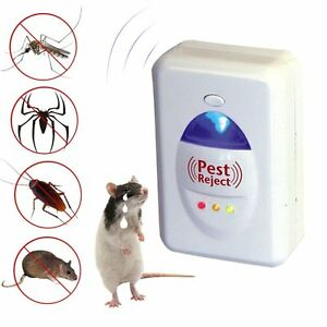 Details about Electromagnetic Wave & ultrasonic Prevent Pest Spider  Cockroaches Rats Mosquito
