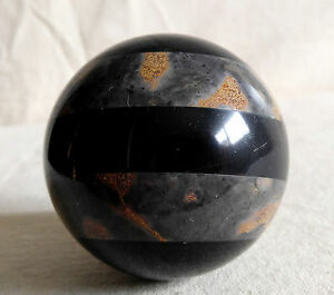 Details about Marble Ball Rock Striped Stone Sphere Polished Granite Home  Decor