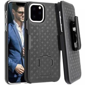 iPHONE 11 PRO - CASE SWIVEL BELT CLIP ARMOR HOLSTER DROP-PROOF STAND COVER COMBO