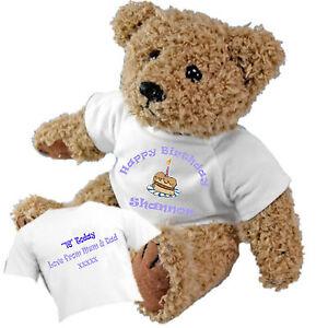 29e075260d9 Image is loading Happy-Birthday-Personalised-Teddy-Bear-Add-a-Birthday-