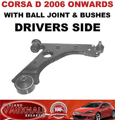 FOR VAUXHALL CORSA D FRONT LOWER WISHBONE SUSPENSION ARM RIGHT HAND SIDE
