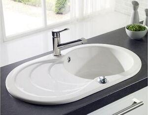 Design Keramikspüle weiß,Designspüle,Einbauspüle,Spülbecken aus ...