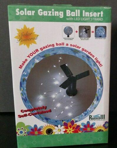 Russco III GD134578 Solar LED Light Strand Gazing Ball Insert ~ NEW SEALED