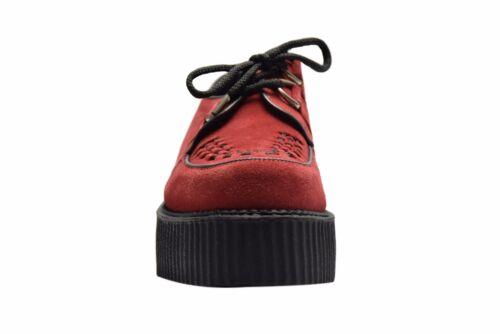 Acier Sol Chaussures Red Suede creepers Haute Semelle D Anneau Casual Rock Sc300Z5