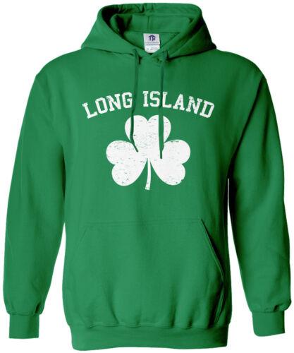 Patrick/'s Day LI Pride Long Island Shamrock Unisex Hoodie Sweatshirt St