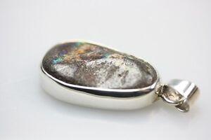Aussergewoehnlicher-925er-Silberanhaenger-mit-grossem-Boulderopal