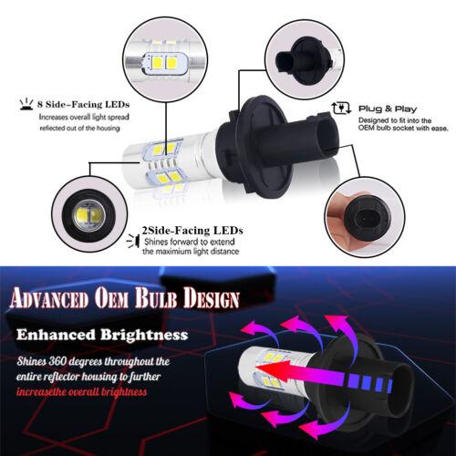Error Free White PH24WY LED Bulbs Backup Lights For Cadillac SRX Chevrolet GMC