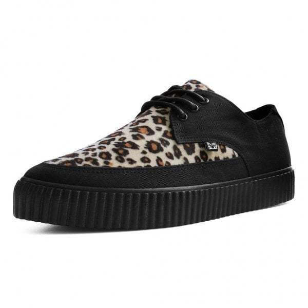 T.U.K. shoes Faux Leopard Fur Pointed Creeper Sneaker