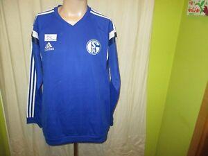 FC-Schalke-04-Original-Adidas-Spieler-Sweatshirt-Pullover-2014-15-Gr-XL-Neu