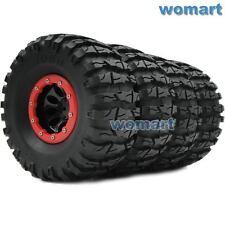 4pcs RC 2.2 Tires 135m & 2.2 Beadlock Wheels Rims Fit 1/10 RC 4WD Axial Crawler