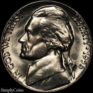 1956-D-Jefferson-Nickel-5c-BU-Uncirculated-US-Coin