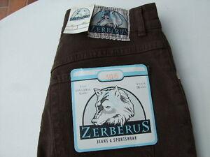 Zerberus Jeans 306 STRETCH  Size 27  Damengröße 34L  Braun