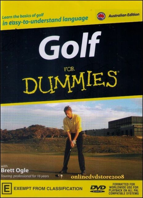 Golf For Dummies DVD RARE GOLFING LESSONS - LEARN TO GOLF with Brett Ogle