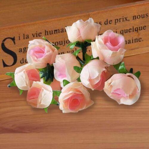 50Pcs Artificial Silk Rose Peony Flower Heads Bulk DIY Craft Wedding Decor UKGRL