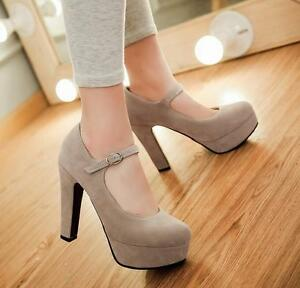 Women-039-s-Round-Toe-Platform-High-Heels-Ankle-Strap-Mary-Janes-Shoes-Pumps-Size