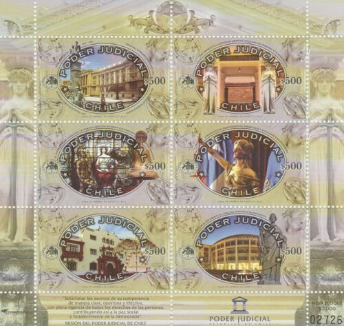 Chile 2015 Sheetlet 6 stamps - Poder Judicial - Judiciary