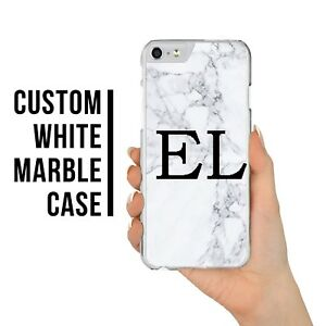 sale retailer ec244 edf0b Details about NEW PERSONALISED MARBLE CASE PHONE WITH INITIALS FOR IPHONE 6  7 8 X PLUS